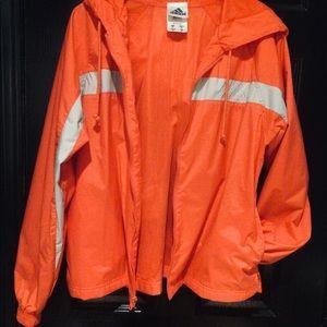 NWT Adidas Orange & Grey hoodie SZ M